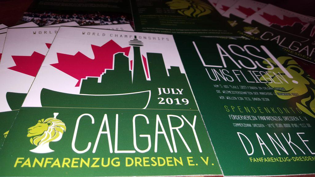 Faltblätter und Flyer für den Fanfarenzug Dresden