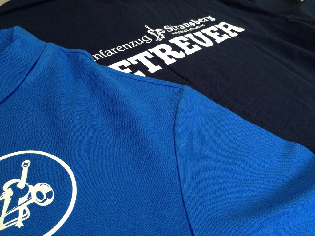 Personalisierte Polo-Shirts – Flexdruck – für den Förderverein ´70 Fanfarenzug Strausberg e. V.