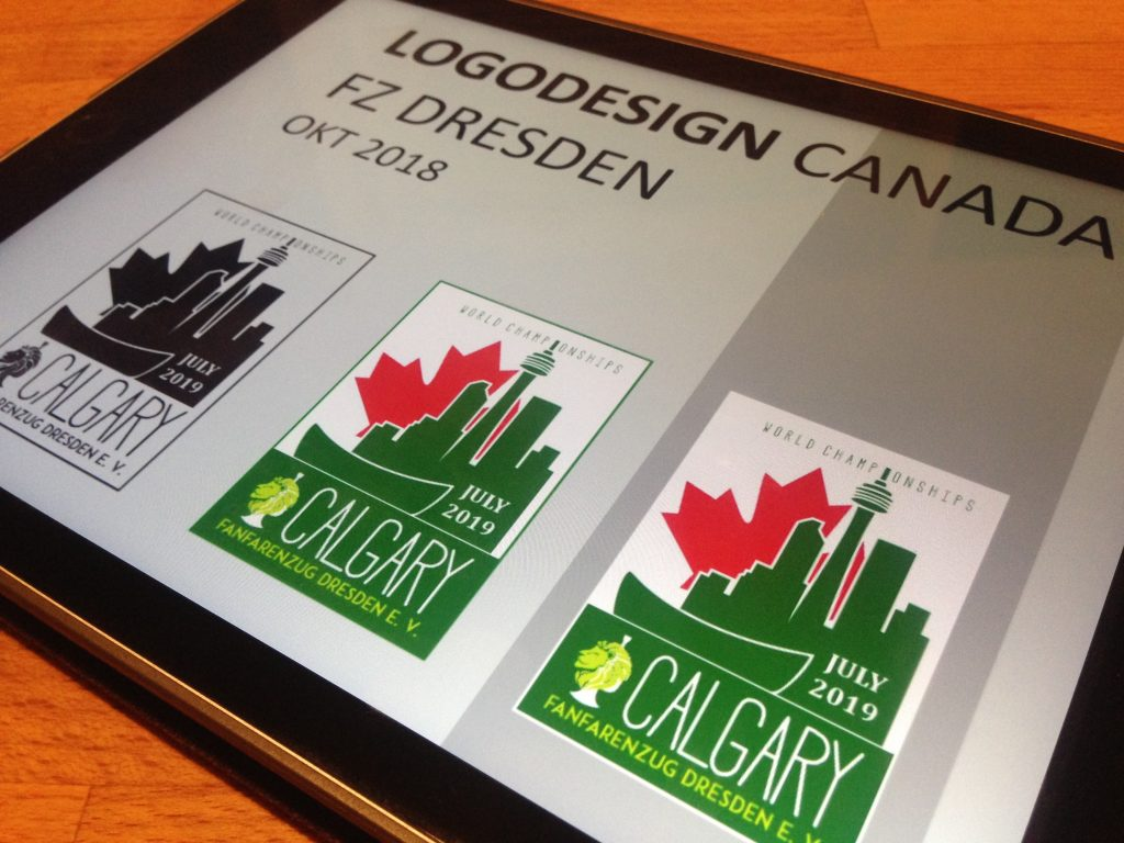 Kanada-Logo für den Fanfarenzug Dresden