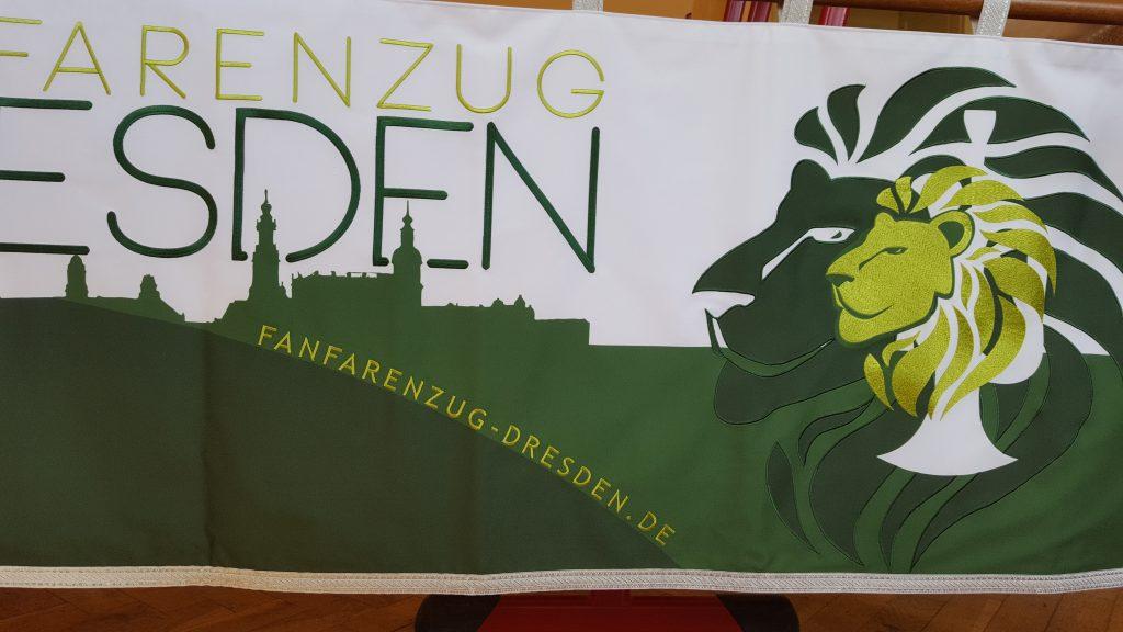 Banner-Design für den Fanfarenzug Dresden